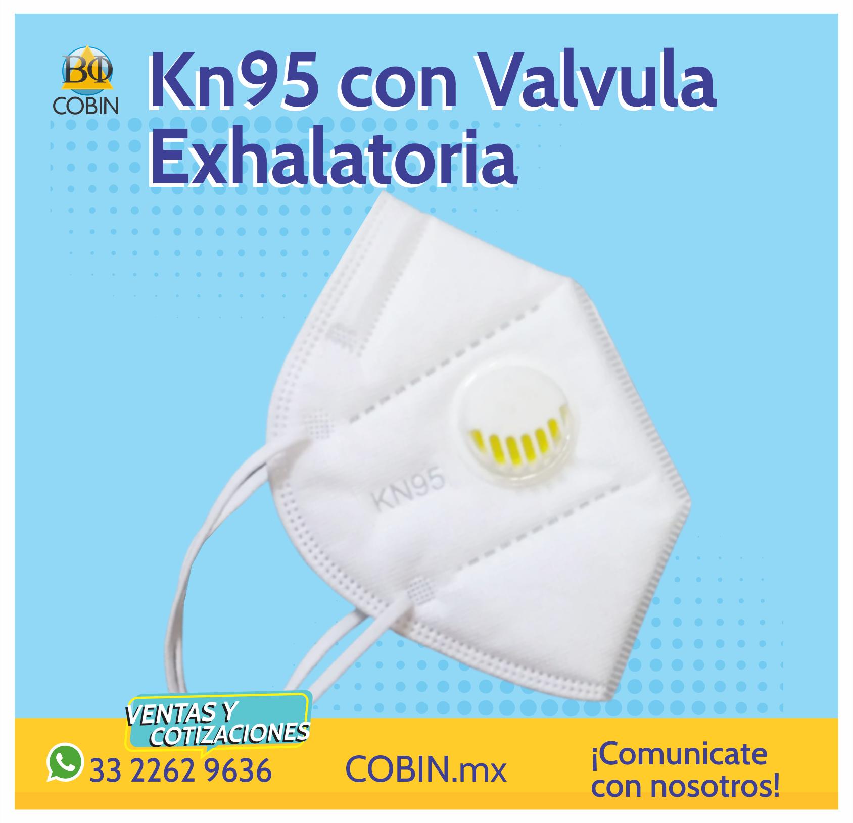 Cubrebocas KN95 con Valvula