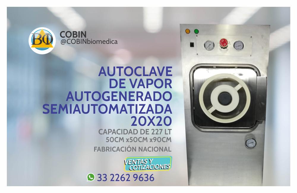Autoclave Semiautomatizada 227 lt